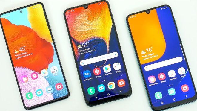 Samsung Galaxy A51 против A50s против A50