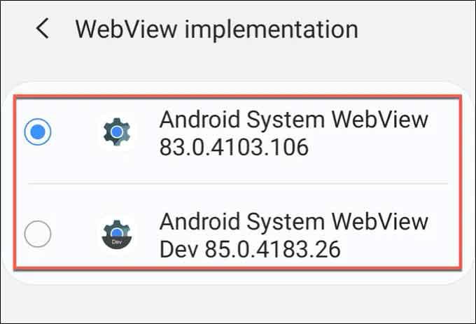 Веб-просмотр системы Android