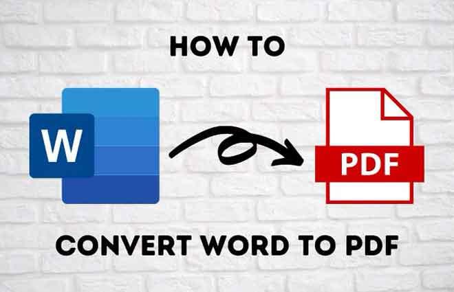 Как преобразовать документ Word в PDF