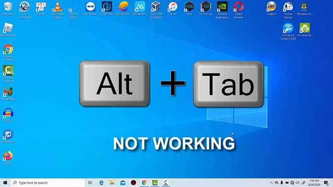 Alt Tab не работает