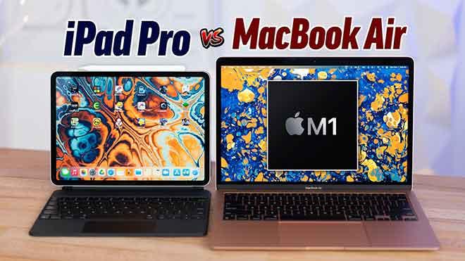 MacBook M1 против iPad Pro