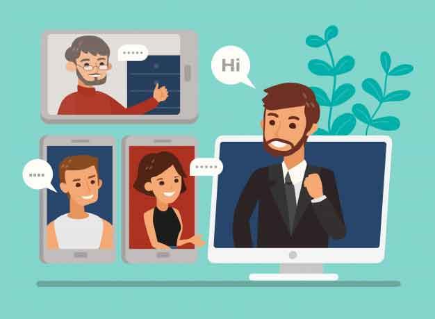 videochiamate di gruppo su PC, iPhone e Android