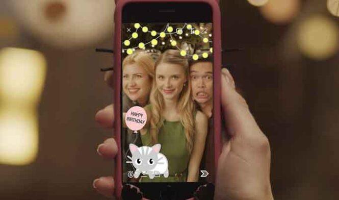 использовать фильтры и линзы Snapchat