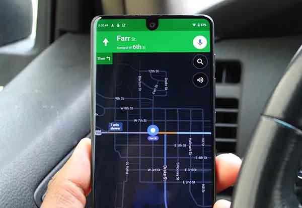 активировать темный режим в Google Maps