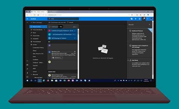 включить темный режим в Microsoft Outlook