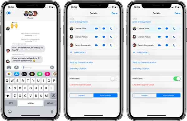 создать групповой чат на iPhone