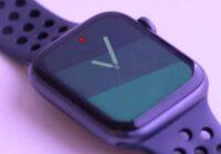 punto rosso su Apple Watch